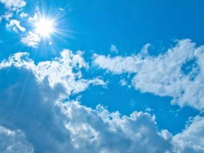 よく晴れた日の空