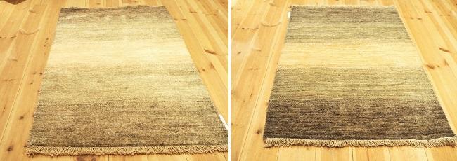 ており絨毯は方向によって見え方が違う