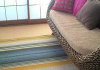 爽やか色のじゅうたん(ER3021)にベージュのじゅうたんのコーディネート