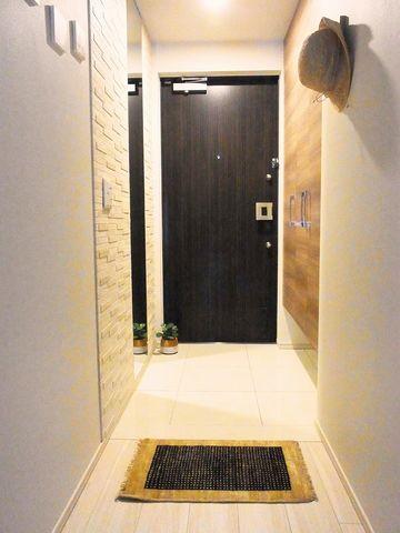 マンションの玄関に40×60 の玄関マット