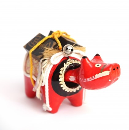 会津地方の郷土玩具 赤べこ