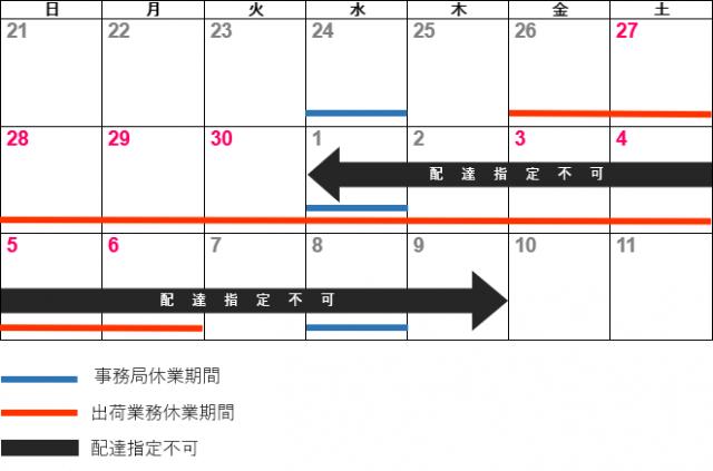 ハグみじゅうたんオンラインショップ ゴールデンウィーク営業カレンダー