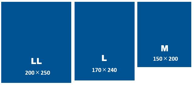 ハグみじゅうたん てざわりCOLLECTIONシリーズ サイズ一覧