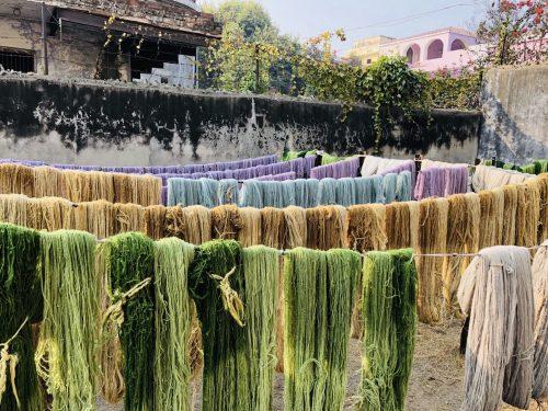 染色糸 風景