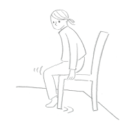 イラスト 椅子を引きずる