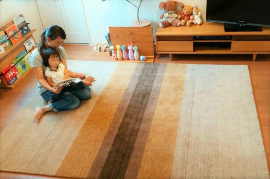 ハグみじゅうたん Lサイズ 170×240cm のサイズ感
