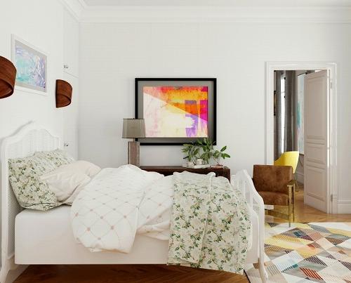絵のある部屋 ベッドルーム