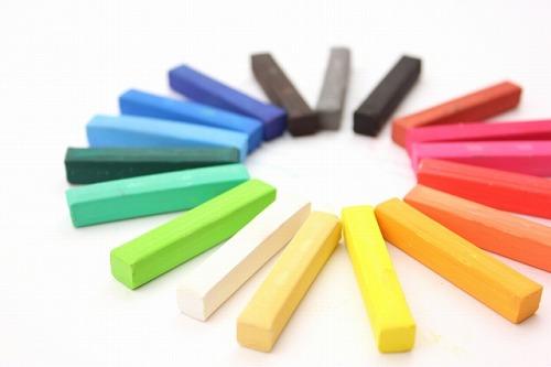 色の効果イメージ 様々な色のパステル