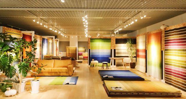 ハグみじゅうたん、東京ショールーム、OZONE、新宿リビングセンター内売り場写真