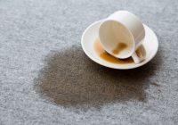 絨毯にコーヒーwこぼした